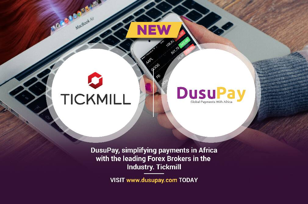 Tickmill, The Forex Trading platform now using DusuPay to accept online Payments from Africa
